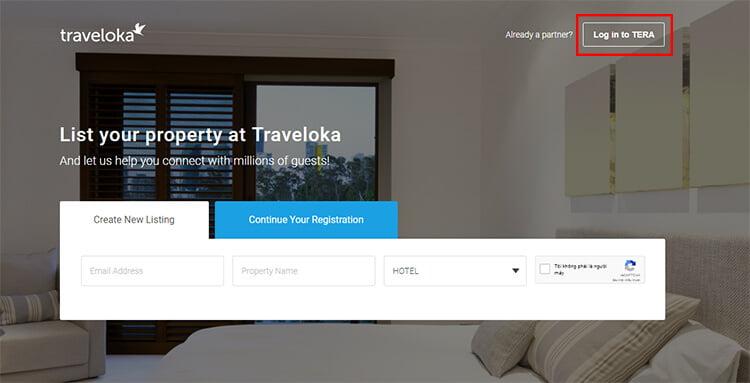 Đăng ký bán phòng trên Traveloka