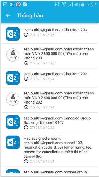 Hướng dẫn sử dụng app ezCloudhotel 7