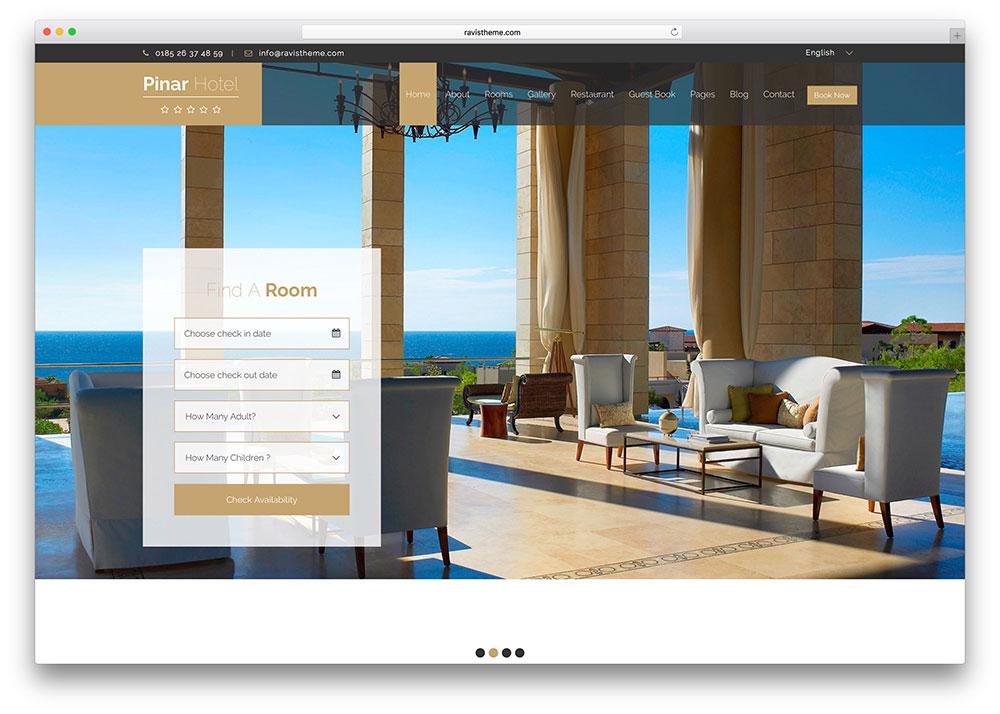 Hi u qu b n ph ng kh ch s n tr n c c k nh ota v website for Hotel booking design