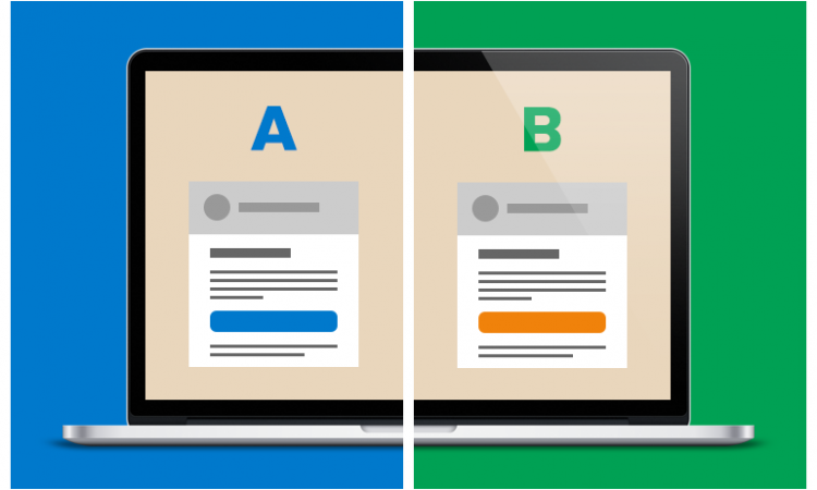 Email marketing test A/B