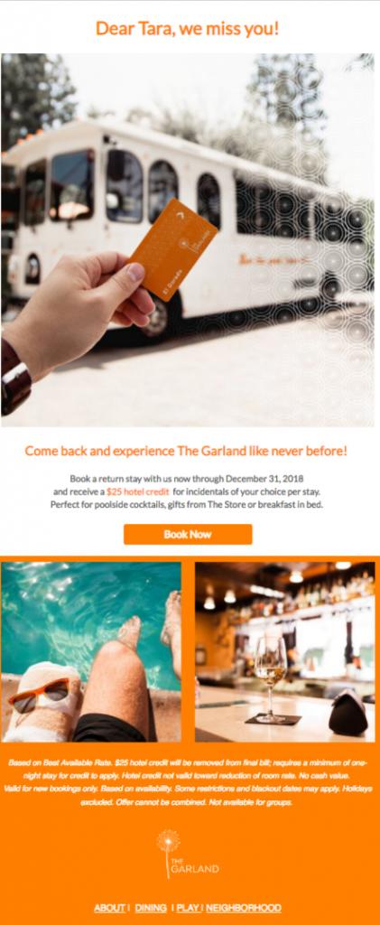 Chiến dịch email marketing khách sạn case study 1