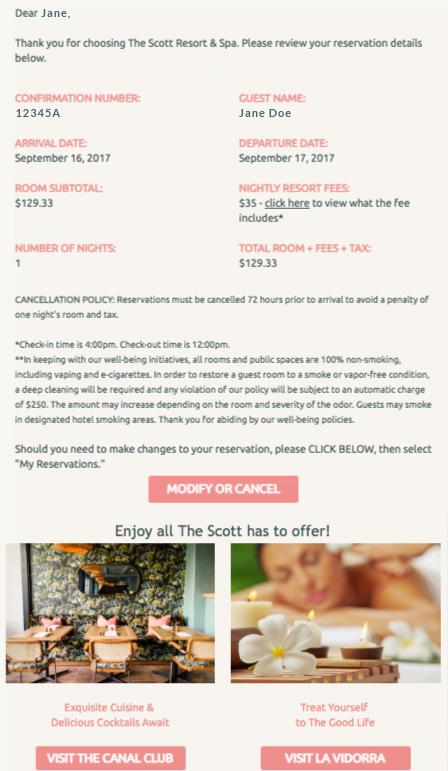 Chiến dịch email marketing khách sạn case study 2