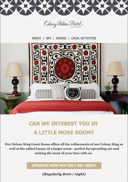 Chiến dịch email marketing khách sạn case study 3
