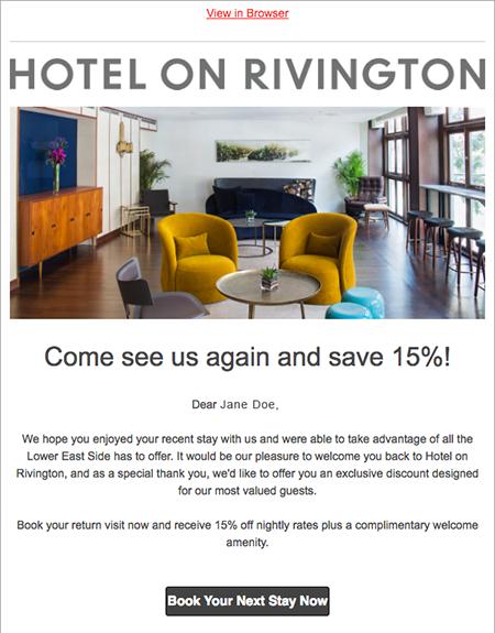 Chiến dịch email marketing khách sạn case study 5
