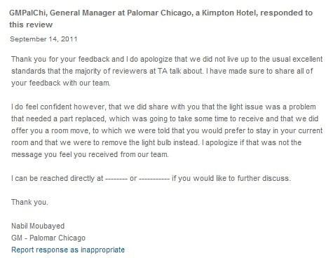 Kinh doanh khách sạn phản hồi của khách sạn 2