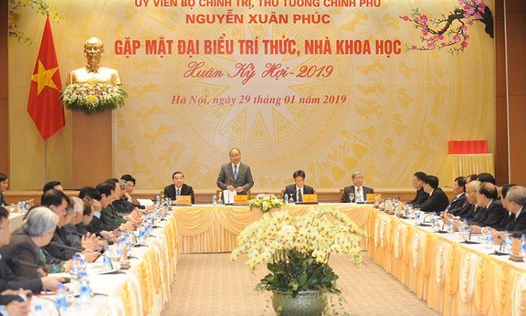 Thủ tướng phát biểu tại buổi gặp mặt