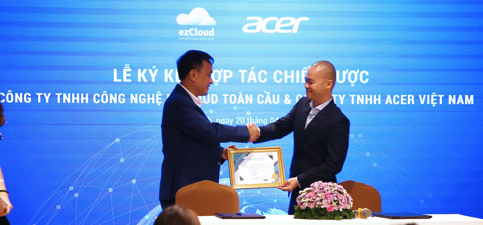 ezCloud và Acer ký kết hợp tác chiến lược