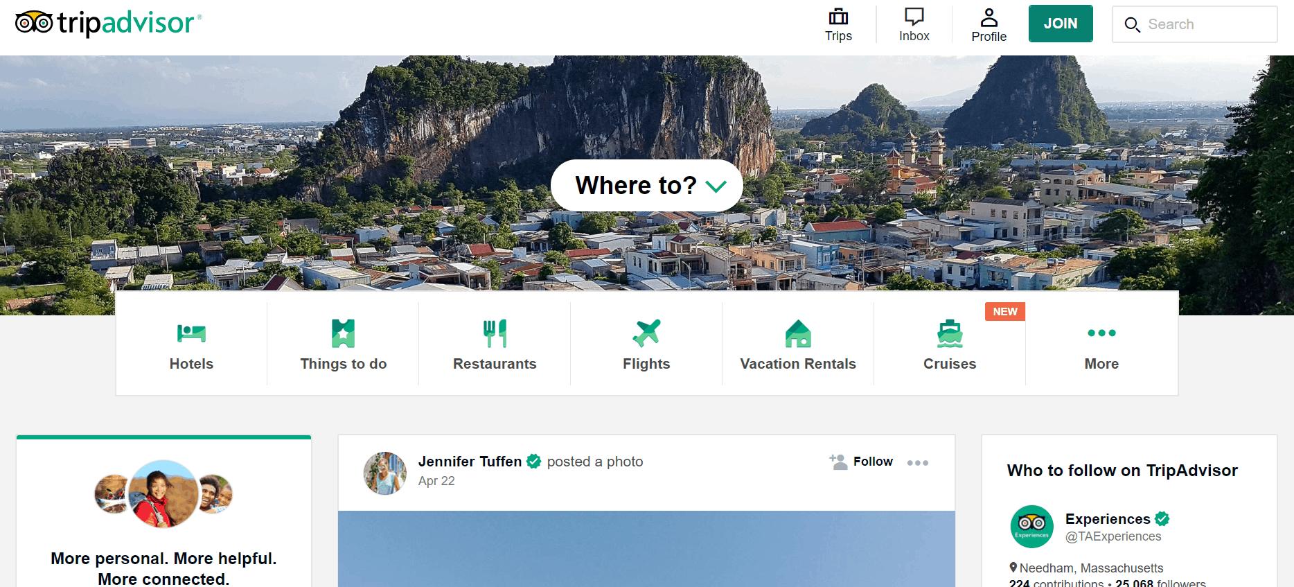 Kiếm tiền với tiếp thị liên kết: TripAdvisor