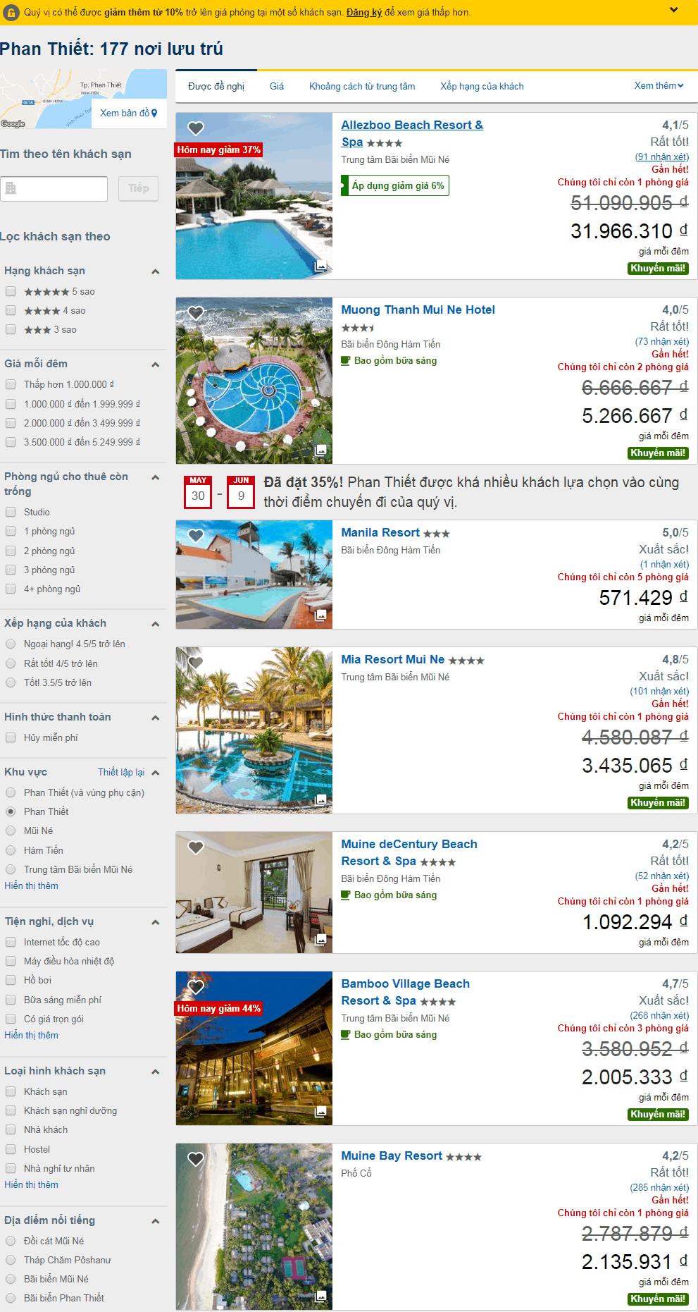 Bước 3: đặt khách sạn expedia