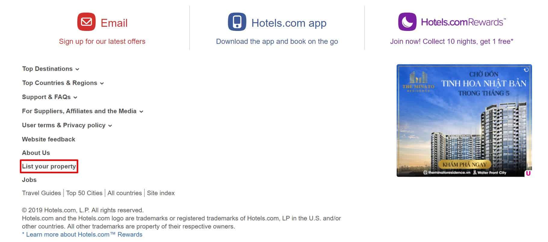 Hướng dẫn chi tiết cách đăng ký bán phòng trên hotels.com - Bước 2