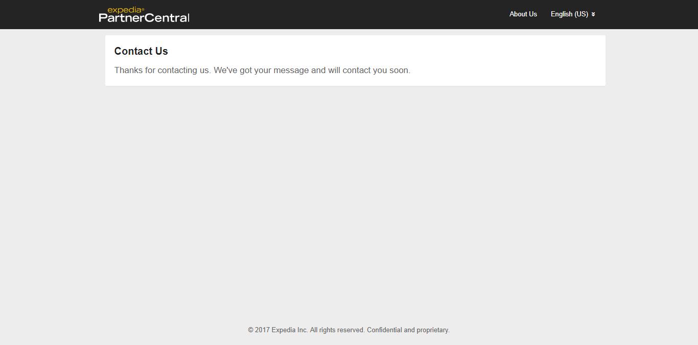 Expedia sẽ liên hệ lại với bạn để hoàn thiện việc đăng ký