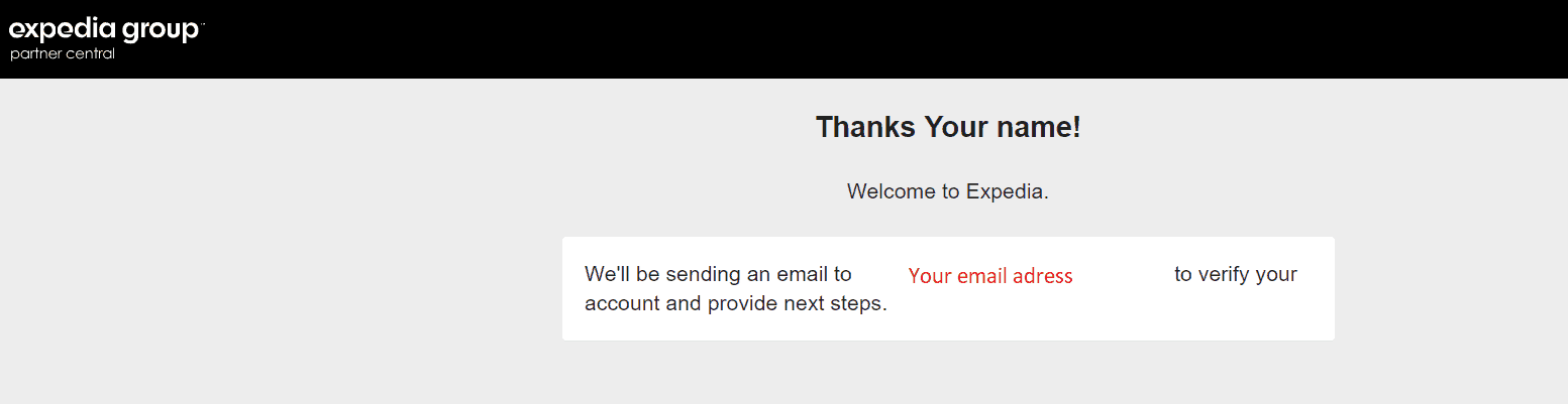 Expedia sẽ gửi email xác nhận cho bạn