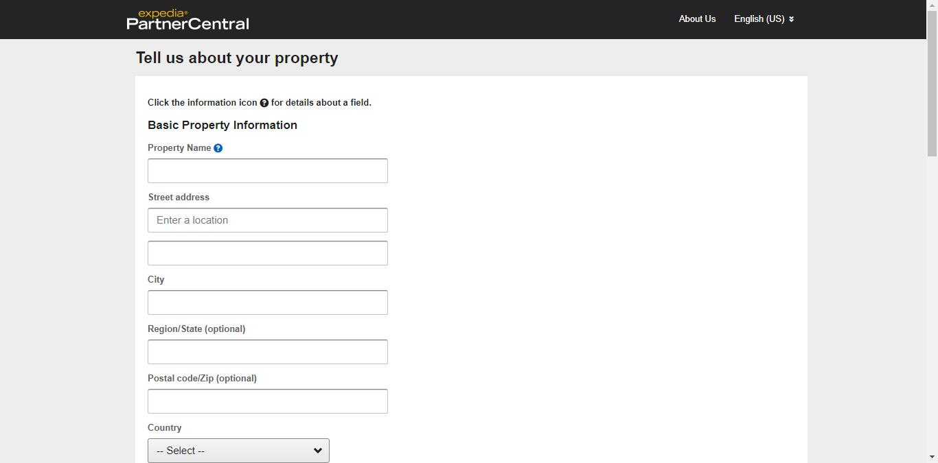Form đăng ký bán phòng trên Expedia 3