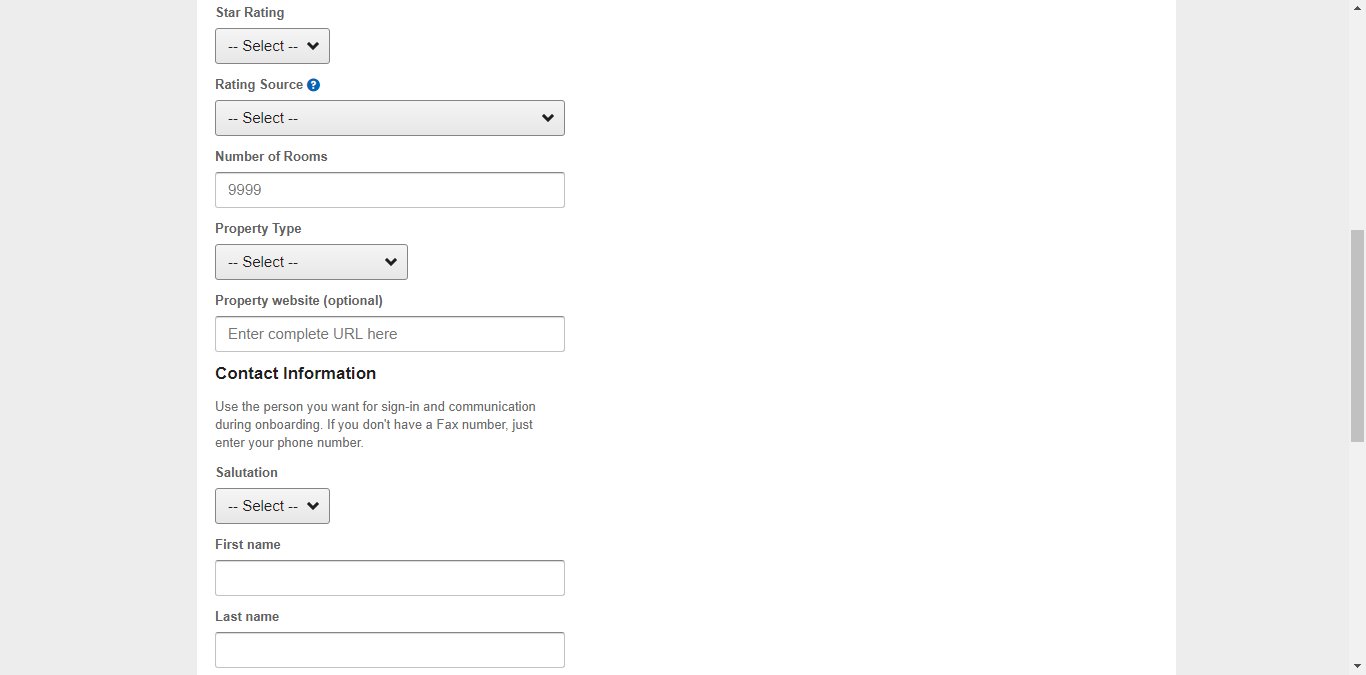 Form đăng ký bán phòng trên Expedia 4