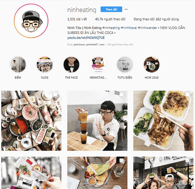 instagram của foodreview