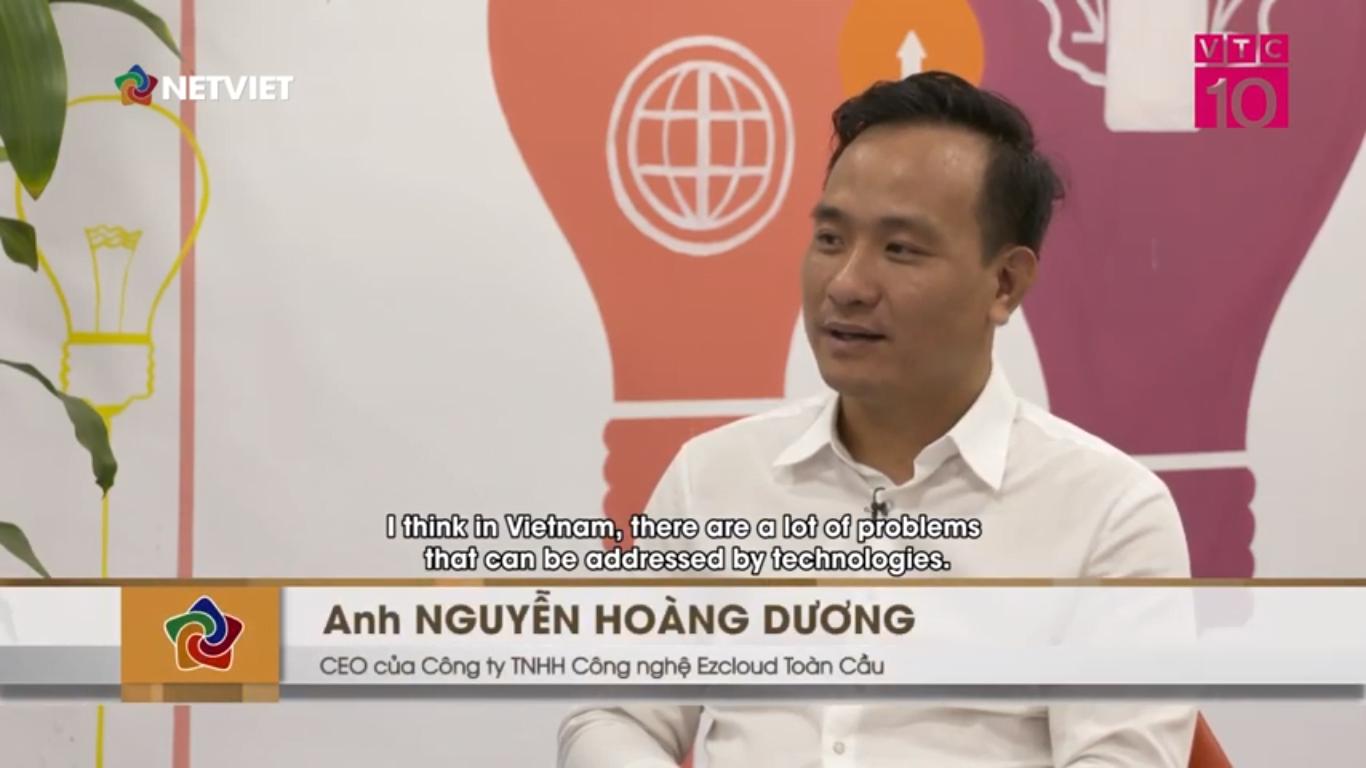 """ezCloud lên sóng Net Viet VTC10 chia sẻ chủ đề """"Khởi nghiệp trong lĩnh vực công nghệ trong ngành du lịch"""""""