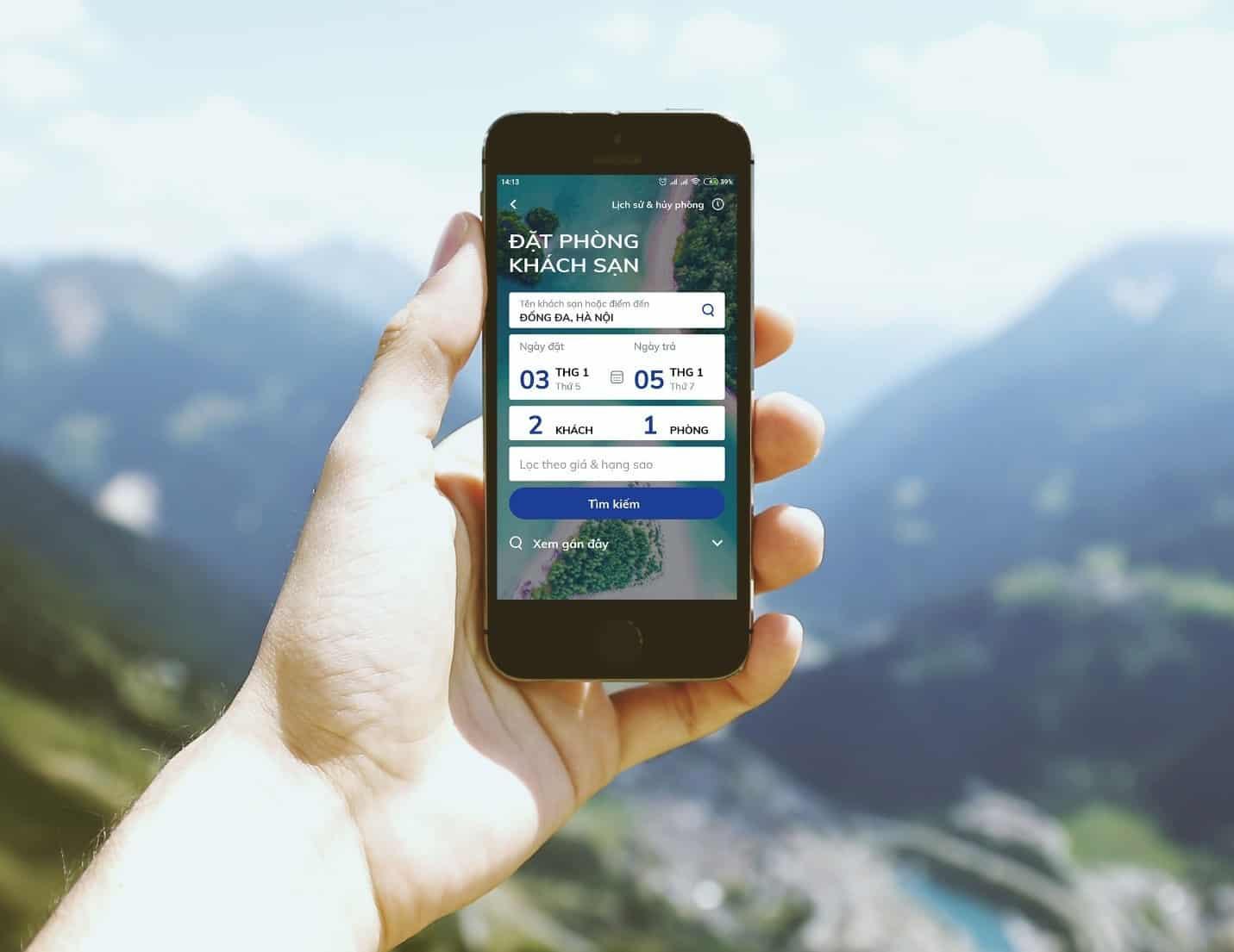 xu hướng đặt phòng online trên smartphone