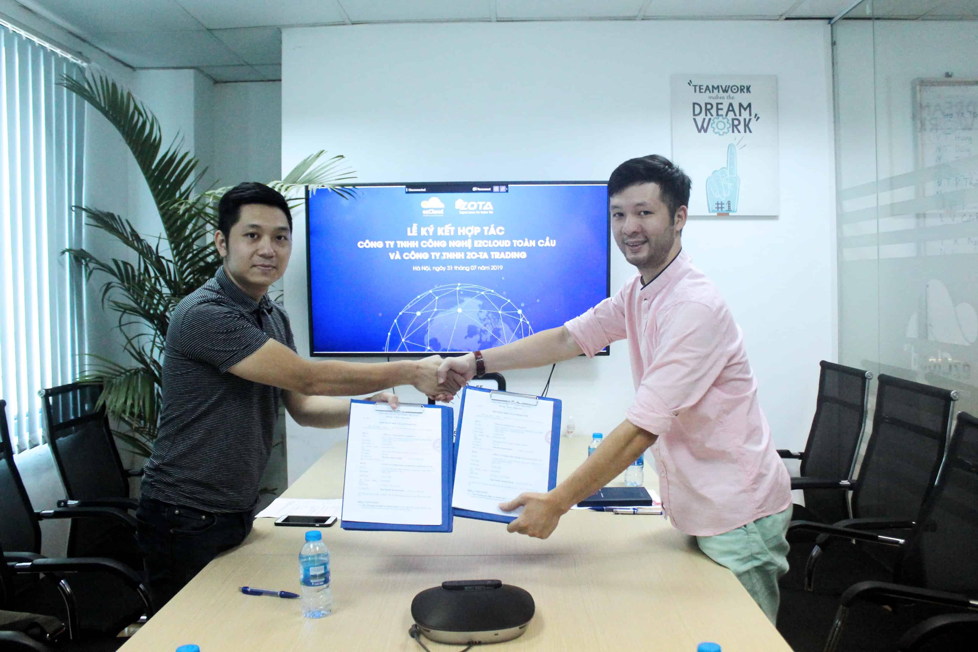 ezCloud và ZO-TA TRADING ký kết hợp đồng hợp tác kinh doanh