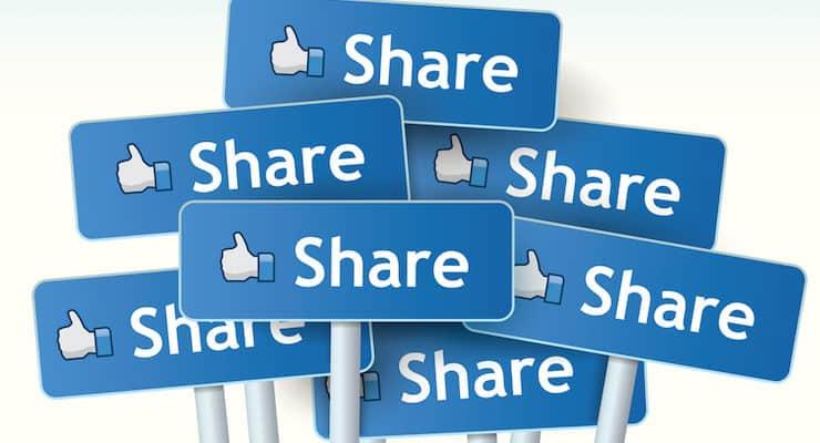 Không có nút chia sẻ mạng xã hội