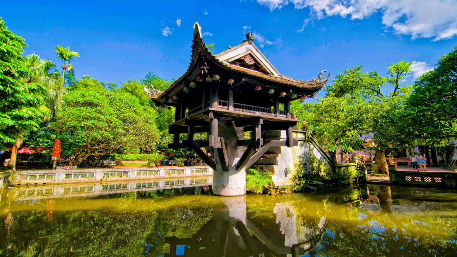 10 điểm du lịch Hà Nội không thể bỏ qua 2019 - chùa một cột