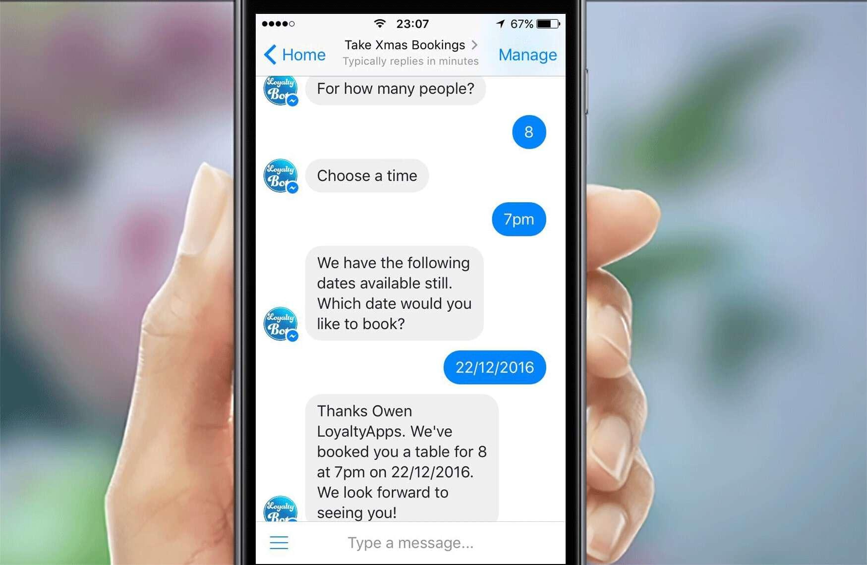 ứng dụng chatbot trong khách sạn