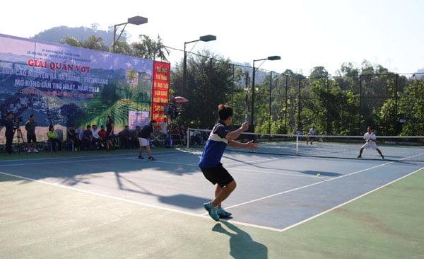 """Giải quần vợt """"Cúp Cao nguyên đá Hà Giang mở rộng lần thứ nhất"""""""