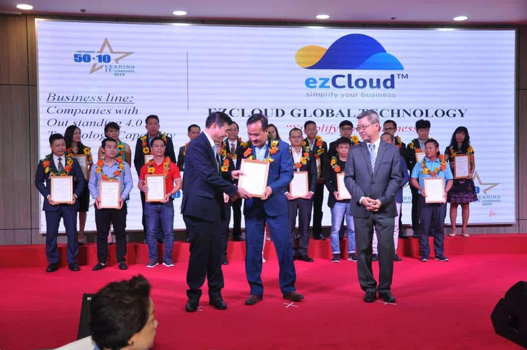 ezCloud nhận giải thưởng Doanh nghiệp có năng lực công nghệ 4.0 tiêu biểu 2019